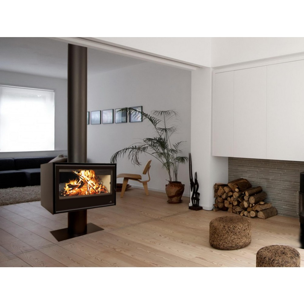 po le bois pour surface 130m2 l89 5 x p55 x h56 5 cm sl290df termofoc bricozor. Black Bedroom Furniture Sets. Home Design Ideas