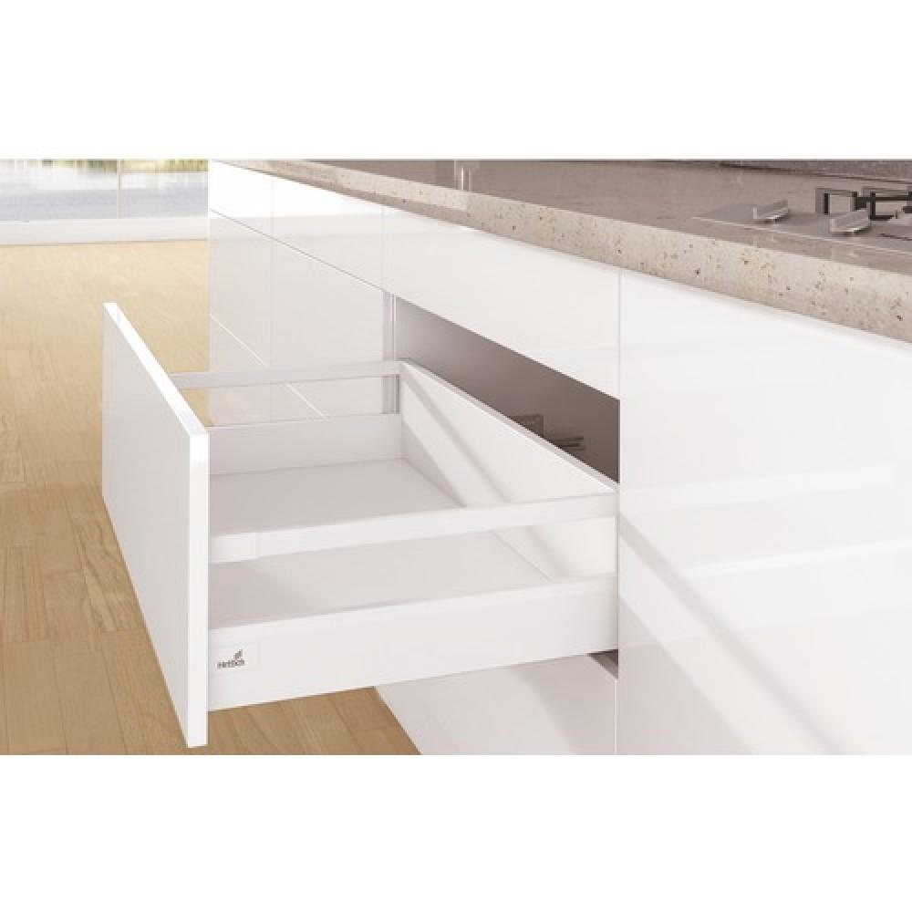 kit tiroir tringles arcitech profil h94mm dos h186 mm blanc hettich bricozor. Black Bedroom Furniture Sets. Home Design Ideas