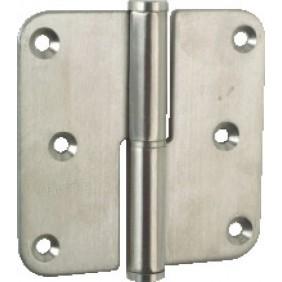 Paumelle à bouts ronds - nœud plat - acier inoxydable - 80x80 mm ARGENTA