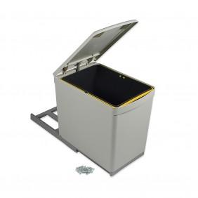 Poubelle de tri sélectif avec couvercle automatique - 1 bac de 16 litres EMUCA
