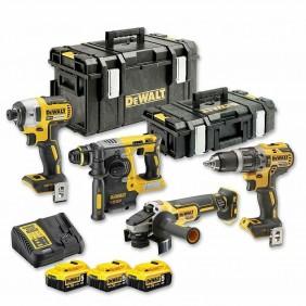 Kit 4 outils XR 18V 3x5Ah - DCK422P3T-QW DEWALT