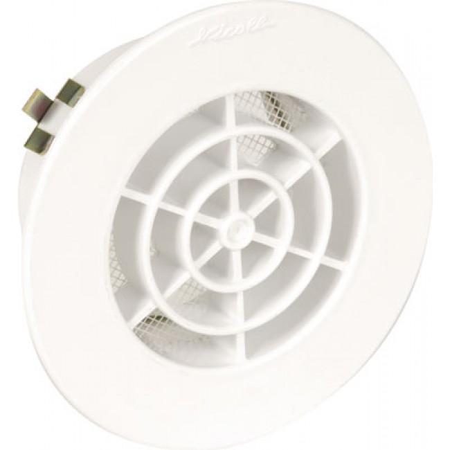Grille d'aération intérieure adaptable sur PVC blanc avec moustiquaire NICOLL