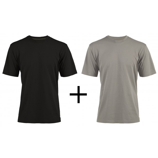 Pack 2 t-shirts de travail noir et gris Racing M à XXL NORTH WAYS