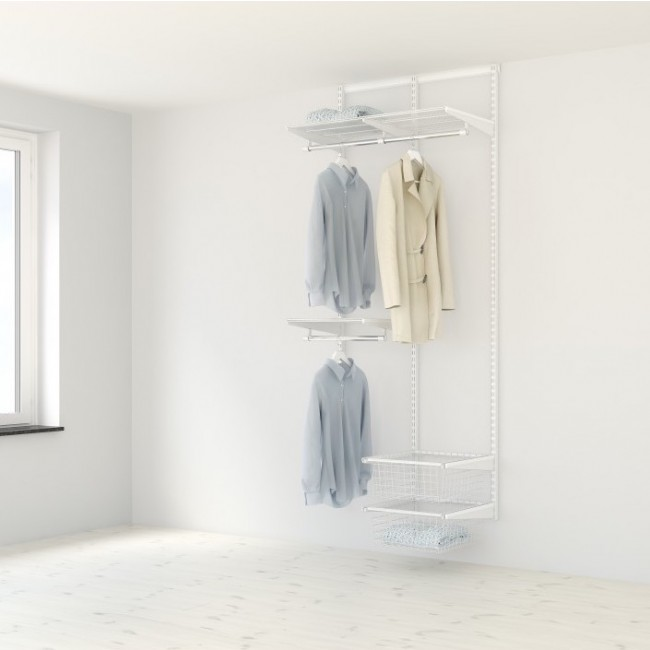 Kit Dressing Classique Plus - L90x40 cm - Blanc ELFA