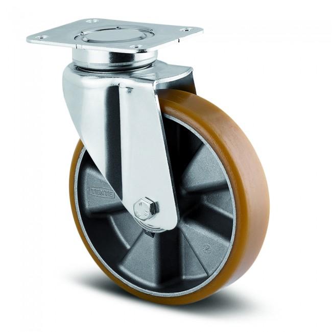Roulette pivotante à platine 137x105 mm - charges lourdes - Delta TENTE