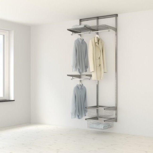 Kit Dressing Classique Plus - L90x40 cm - Platinium ELFA