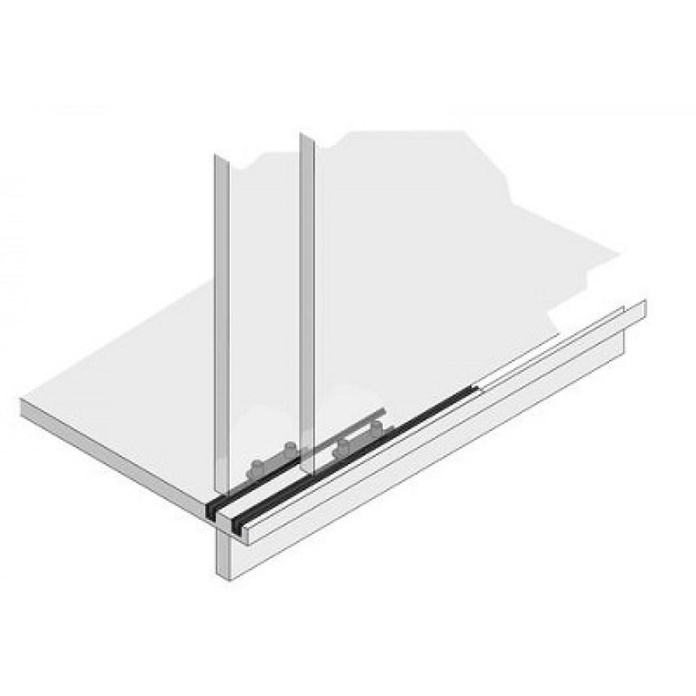 guidage bas pour rail stb 35 hettich bricozor. Black Bedroom Furniture Sets. Home Design Ideas