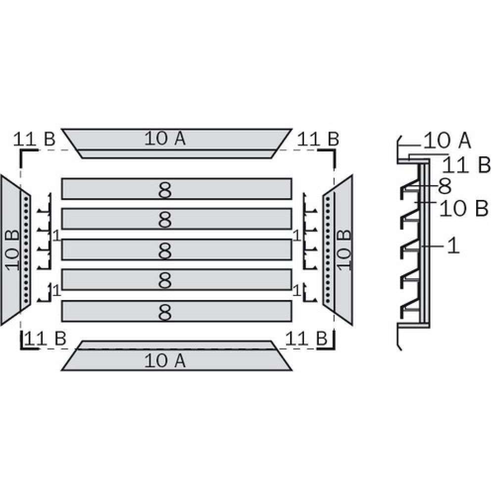 raccord en t24 pour assemblage de grille 411 renson bricozor. Black Bedroom Furniture Sets. Home Design Ideas