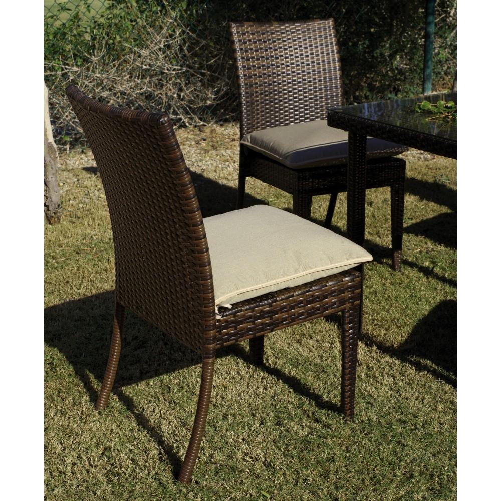 Table de jardin 2 fauteuils tamaru et 4 chaises marzia - Coussins de chaises dehoussables ...