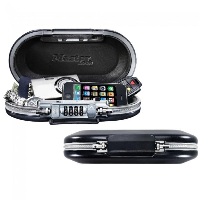 Mini-coffre de rangement portable pour voyage avec câble de sécurité MASTER LOCK
