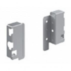 Raccords arrière pour parois en bois/aluminium-H70 mm-argent HETTICH