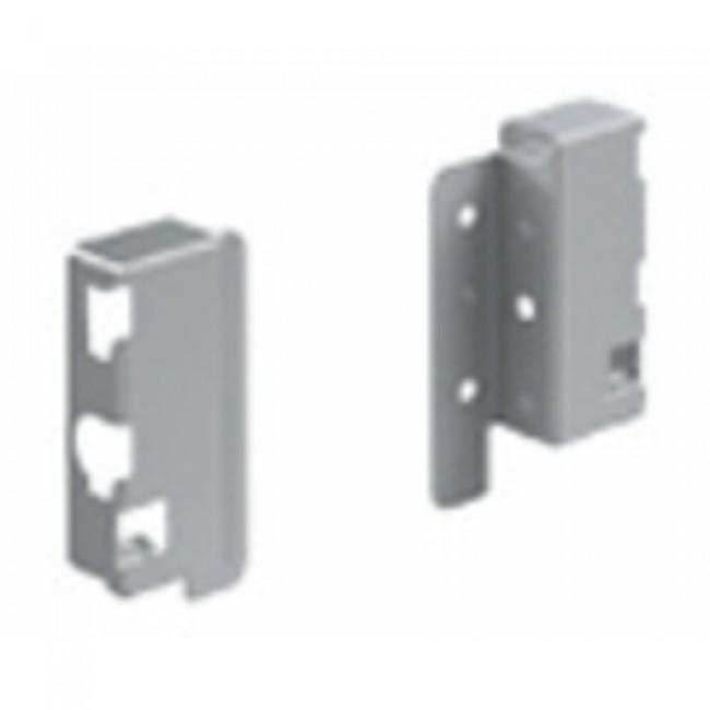 Raccords arrière pour parois en bois/aluminium - hauteur 70 mm HETTICH