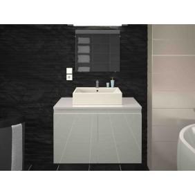 Meuble de salle de bain 80 cm - Cologne - Laqué blanc ou Gris Mat BAIN ROOM