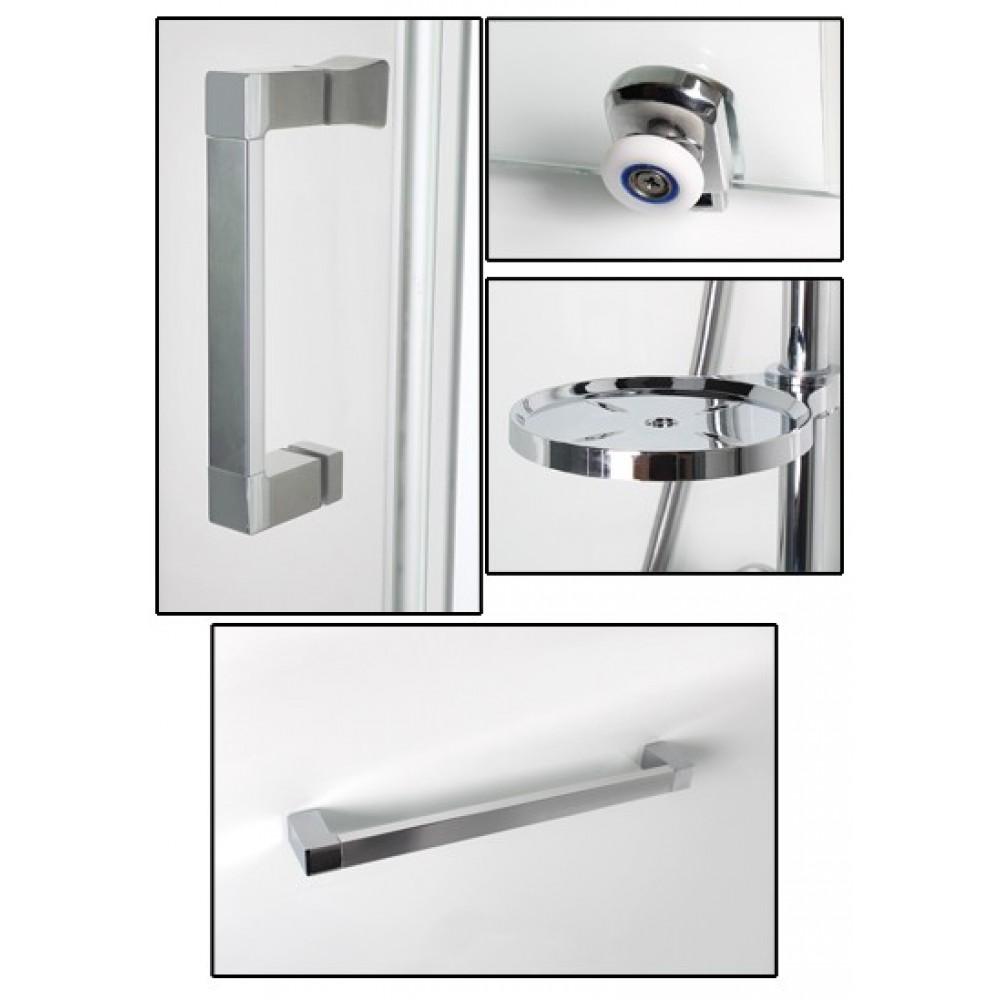 Cabine de douche 90 x 90 cm pr te poser porte for Poser porte de douche
