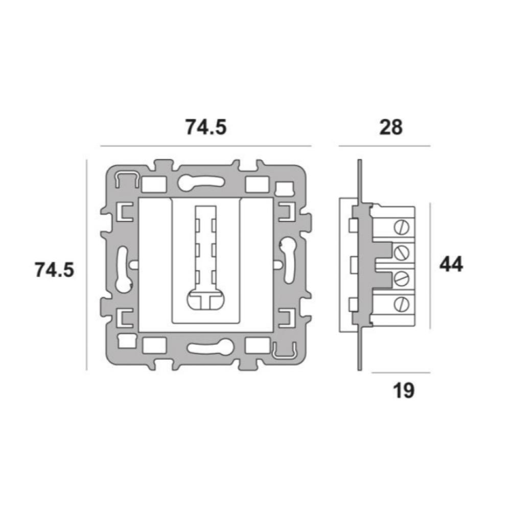 Cache Alu Support m/étal DEBFLEX Casual M/écanisme T/él/éphone