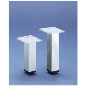 Pied de meuble carré en aluminium 30 x 30 HETTICH
