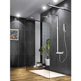 Colonne de douche thermostatique avec douche de tête carrée SLIM SARODIS