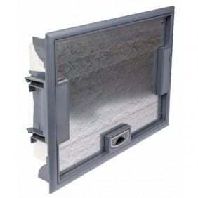 Boîte de sol à équiper à couvercle inox, hauteur 65 mm, 16 modules LEGRAND