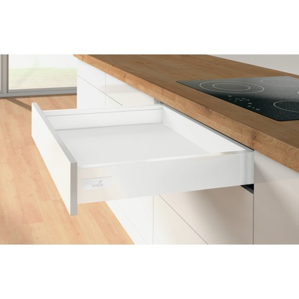kit tiroir l 39 anglaise innotech atira hauteur 70 mm blanc hettich bricozor. Black Bedroom Furniture Sets. Home Design Ideas
