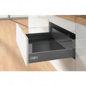 Kit tiroir DesignSide verre InnoTech Atira-H144mm-sans coulisses-anthracite HETTICH