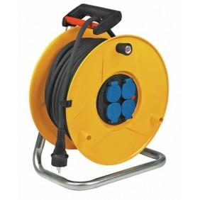 Enrouleur câble électrique - Garant E - disjoncteur thermique BRENNENSTUHL