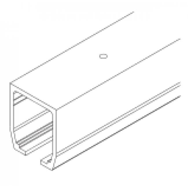 Rail haut junior 160 pour porte coulissante bricozor for Rail pour porte coulissante lourde