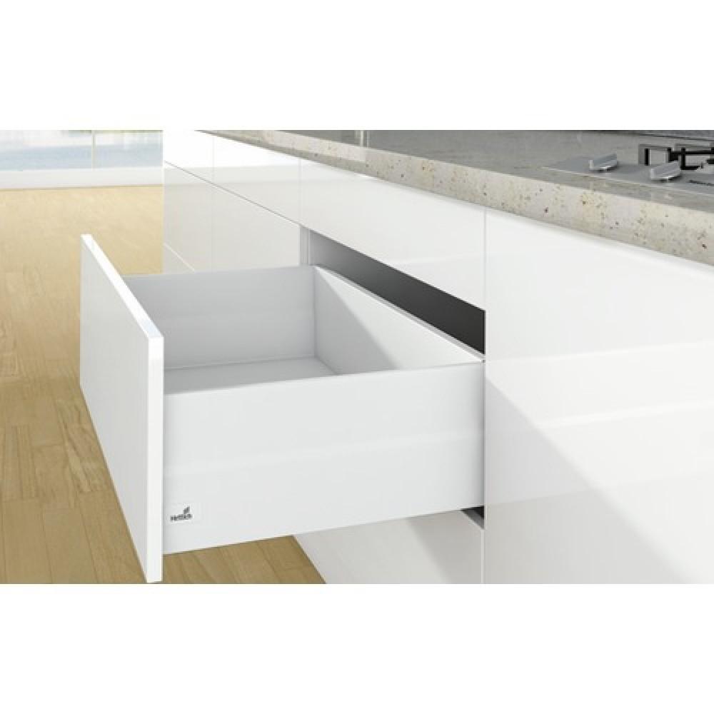 kit tiroir topside arcitech profil h126 dos h218 mm blanc hettich bricozor. Black Bedroom Furniture Sets. Home Design Ideas