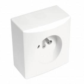 Prise de courant - complète - saillie - Vision - blanc EUROHM