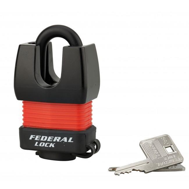 Cadenas blindé de sûreté - acier cémenté - 2 clés - Docker FTH THIRARD