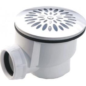 Bonde de douche à grille inox 90 mm - sortie horizontale NICOLL