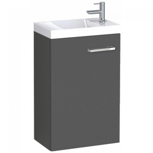 Meuble lave-mains - suspendu - Graphite - Palerme 400x600 mm Néova
