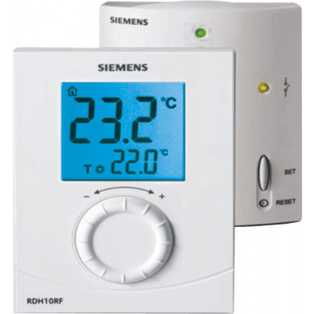 thermostat d 39 ambiance sans fil rdh10rf r cepteur siemens bricozor. Black Bedroom Furniture Sets. Home Design Ideas