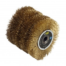 Brosse fil laitonnée 0,3 mm pour rénovateur REX 120 C - décapage léger FARTOOLS
