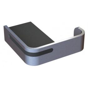 Porte-peignoir à fixer - Aluminium - gris ou noir - Alur PELLET ASC