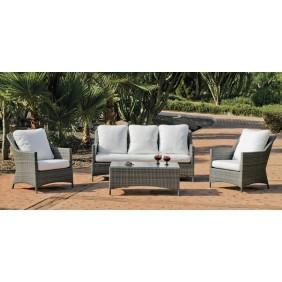 Salon de jardin Cambel 8 : canapé, fauteuils et table basse