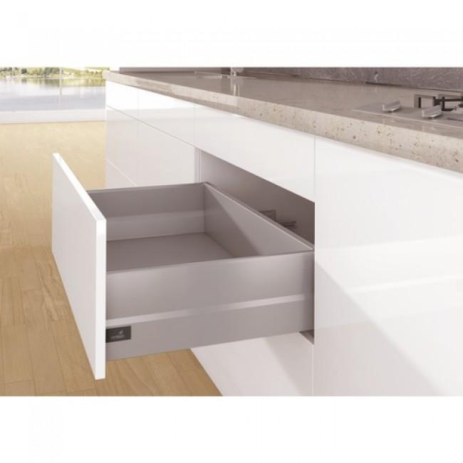 kit tiroir topside arcitech profil h94 mm dos h186 mm argent hettich bricozor. Black Bedroom Furniture Sets. Home Design Ideas