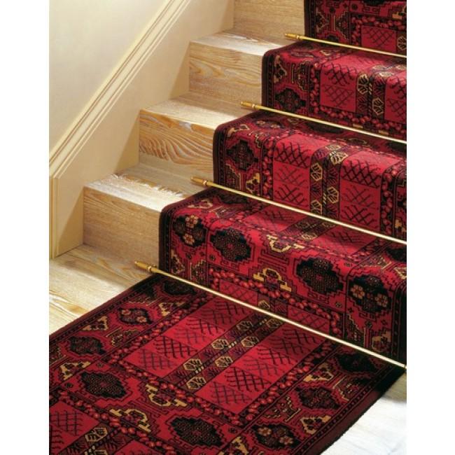 Tringle d'escalier en acier laitonné avec embouts et pitons DINAC