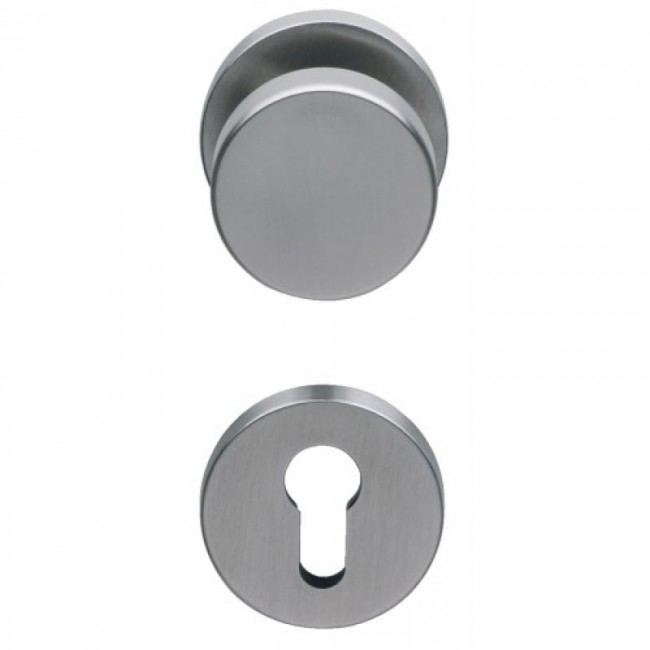 Poignées de porte palière - bouton fixe et béquille - inox 316 - NT NORMBAU
