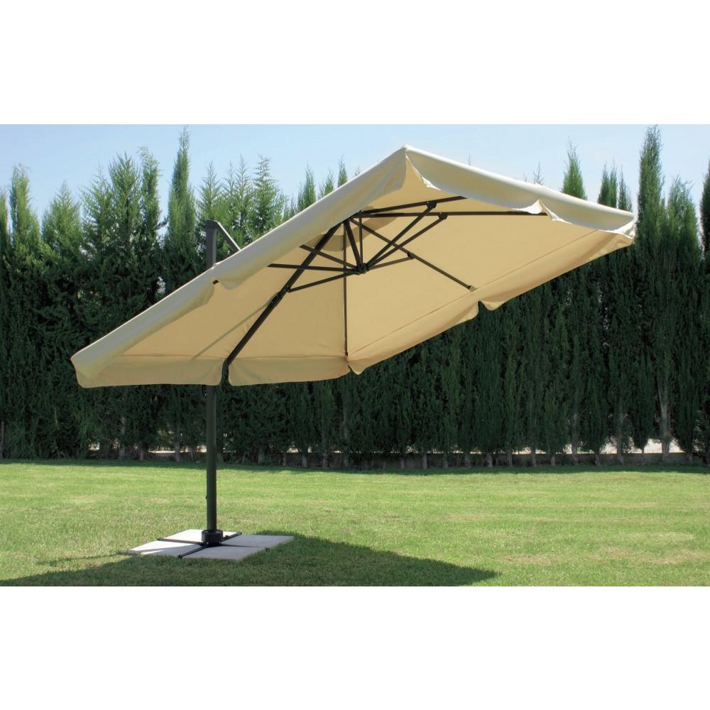parasol d port et inclinable arosa diam tre 350 cm hevea. Black Bedroom Furniture Sets. Home Design Ideas
