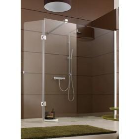 Paroi de douche fixe ouverte 6mm - adaptée pour parois mobile - profilé blanc Django LEDA