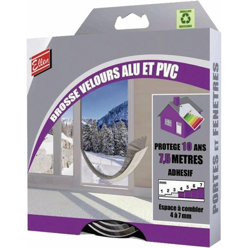 joint adh sif brosse velours pour portes de placard 7 5m ellen bricozor. Black Bedroom Furniture Sets. Home Design Ideas