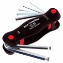 Poignée de 7 clés allen 2 à 8 mm, tête sphérique, SB 369R P7 WIHA