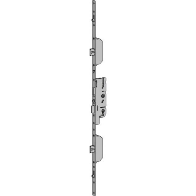 Serrure 5 points automatique - 40 mm - 2 pênes 2 galets - Fercomatic FERCO