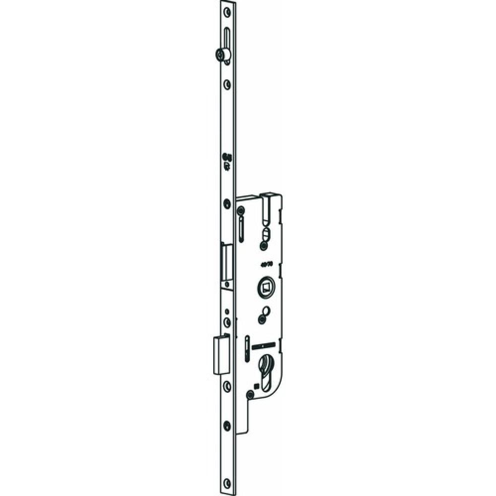 Serrure pour porte fermi re haute axe 40 entraxe 70 for Porte pvc 60