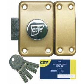 Verrou en applique - à bouton - clés réversibles - varié - City R6 ISEO