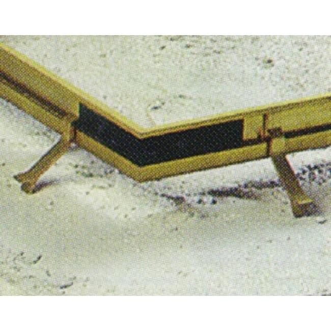 Équerres d'angle pour cadre de paillasson tapis-brosse DINAC