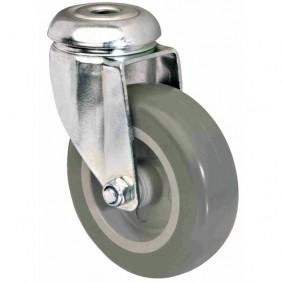 Roulette pivotante - chariot sur œil - bandage polyuréthane TENTE