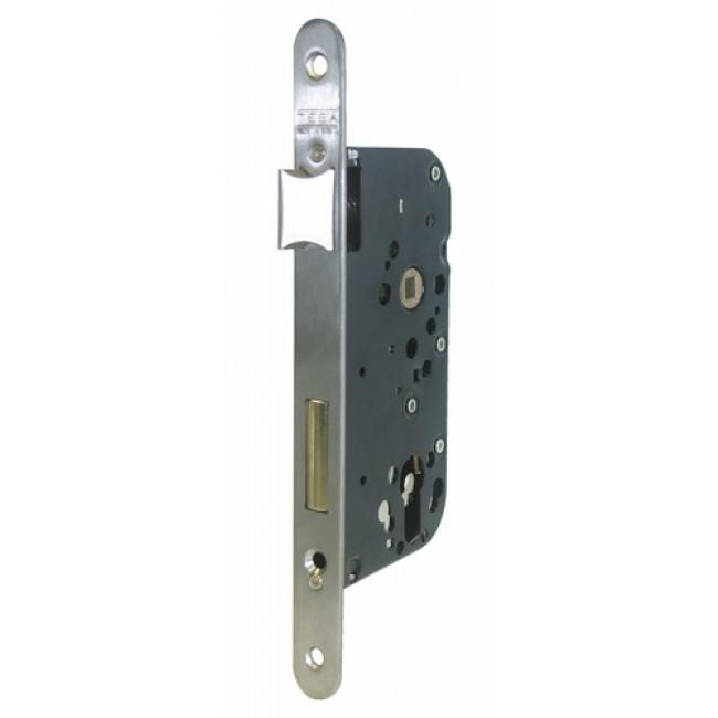 Serrure à larder T4130 - demi-tour et dormant - axe 40 mm - têtière inox TESA Sécurité