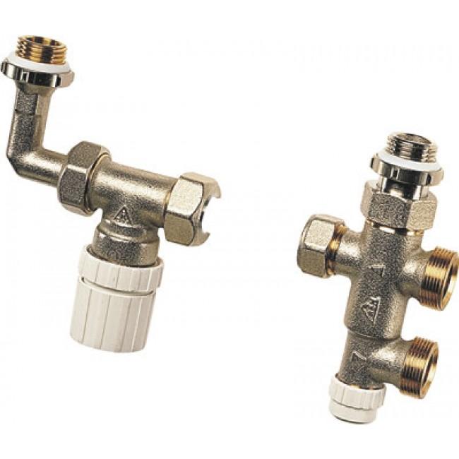 Kit de robinet thermostatisable droit pour installation bi-tube