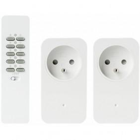 Kit 2 prises fonction variateur - télécommande 16 canaux TRUST SMART HOME